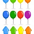 Colorful flying balloons collection — Stock Vector