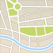 Background of city map — Stock Vector