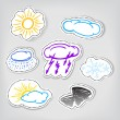 Hand-drawn weather color icons set — Stock Vector