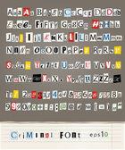 Set di lettere vettoriali da giornali e riviste — Vettoriale Stock