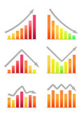 Business revenue charts — Stock Vector
