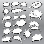 Set of comic style talk clouds — Stock Vector