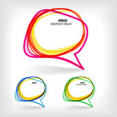 Background of abstract talking bubble — Stock Vector