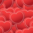 Royalty-Free Stock Immagine Vettoriale: Valentine seamless background of white and red hearts