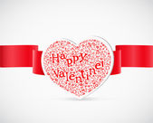 Valentine`s day greeting card with letters — Stock Vector