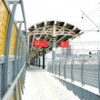 Empty station in winter - Stock Photo