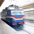 Moving locomotive — Stock Photo