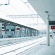 Empty station in winter — Stock Photo #8462415
