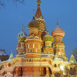 St. Basil's Cathedral on Red square, Moscow, Russia - Stock fotografie