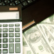 Calculator and money — Stock Photo #8462612