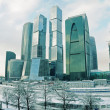Stock Photo: Winter cityscape with group of buildings