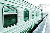 Wagon on the platform — Stock Photo