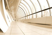 Long corridor with the light in the end — Stock Photo
