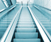 Moving escalator — 图库照片