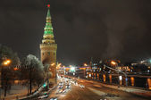 Moscow kremlin. night view. Russia — Stock Photo