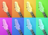 Multicolored abstract pattern of electric guitar — Stock Photo