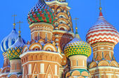 St. Basil's Cathedral on Red square, Moscow, Russia — Stok fotoğraf