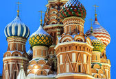 St. Basil's Cathedral on Red square, Moscow, Russia — Стоковое фото