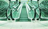 Moving escalators — Stock Photo