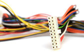 Colorful computer wires — Stock Photo