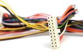 Färgglada dator ledningar — Stockfoto