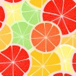 Citrus seamless background — Stock Vector