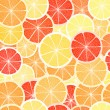 Citrus seamless background. Grapefruit, lemon  and orange — Stock Vector