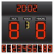 Match score board — Image vectorielle