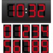 Digital clock — Stockvectorbeeld