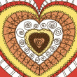 Vector de stock : Ornament of hearts. Terrgamma