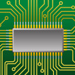 Royalty-Free Stock Vector Image: Computer chip