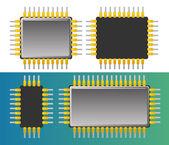 Computer chips — Stock Vector