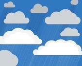 гроза облака — Cтоковый вектор