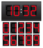 Digital clock — Vector de stock
