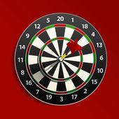 Dart is in the aim — Stock Vector