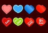 Happy valentine verkoop stickers — Stockvector