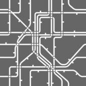 Seamless grey background of metro scheme — Stock Vector