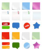 Collection of paper — Stock Vector