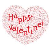 Happy valentine card — Stock Vector