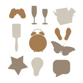 Different objects — Stock Vector