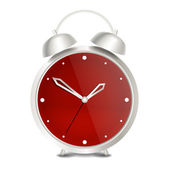 Steel modern vector alarm clock — Stock Vector