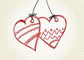 Deux coeurs — Vecteur
