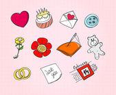 συλλογή από σύμβολα της αγάπης — Διανυσματικό Αρχείο