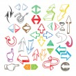 Royalty-Free Stock Vector Image: Hand-drawn color arrows collection