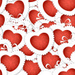 Stock Vector: Valentine`s hearts seamless background