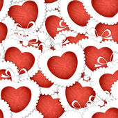 Valentine`s hearts seamless background — Stockvector