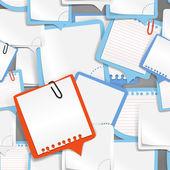 Kağıt metin kabarcıklar sorunsuz arka plan — Stok Vektör