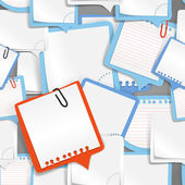 Texto de papel burbujas fondo transparente — Vector de stock