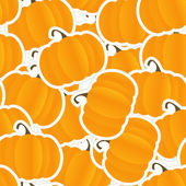 Orange pumpkin seamless background — Stock Vector