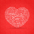 Royalty-Free Stock Vector Image: Happy valentine`s day greeting card